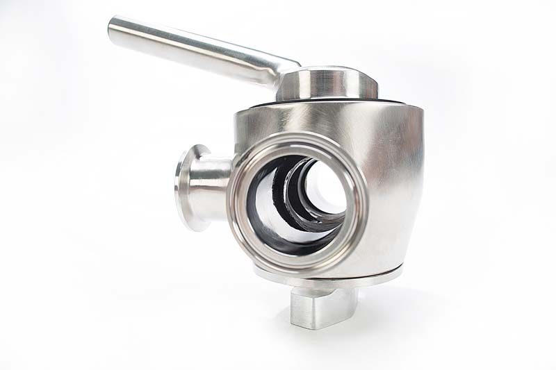 Stainless Steel Rubber Three Way Plug Valve