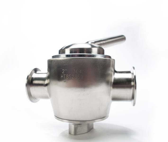 Stainless Steel Metal Three Way Plug Valve
