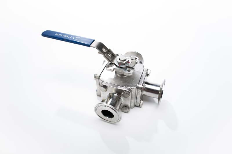 L Port Three Way Sanitary Valve