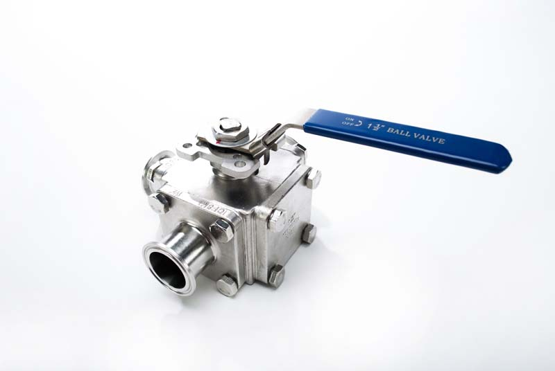 T Port Three Way Sanitary Ball Valve