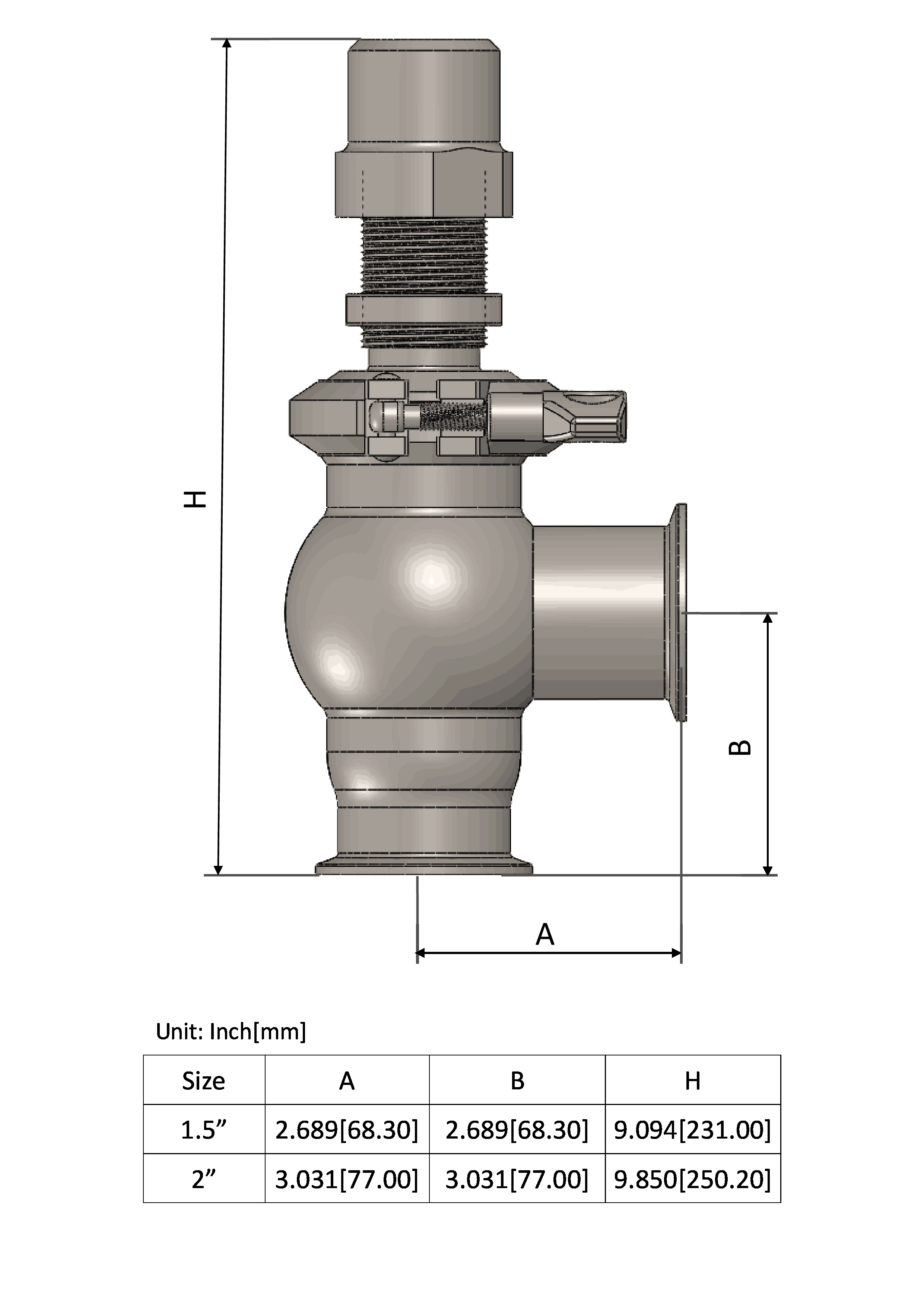 Manually Adjustable Pressure Relief Valve